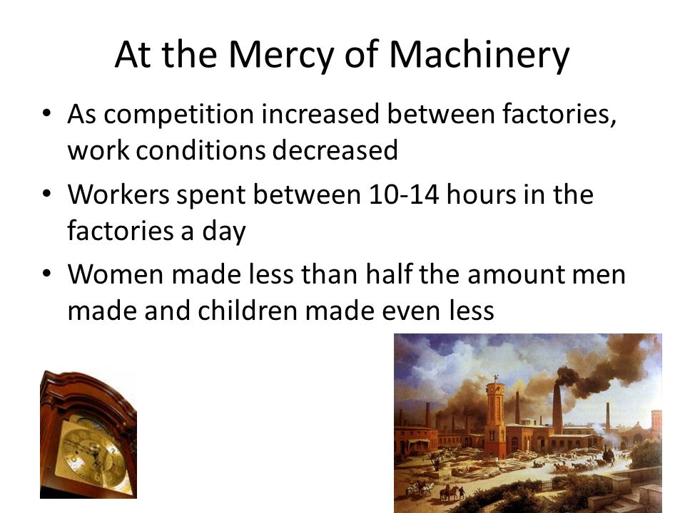 At the Mercy of Machinery
