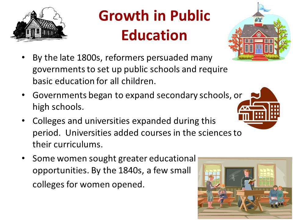 Growth in Public Education