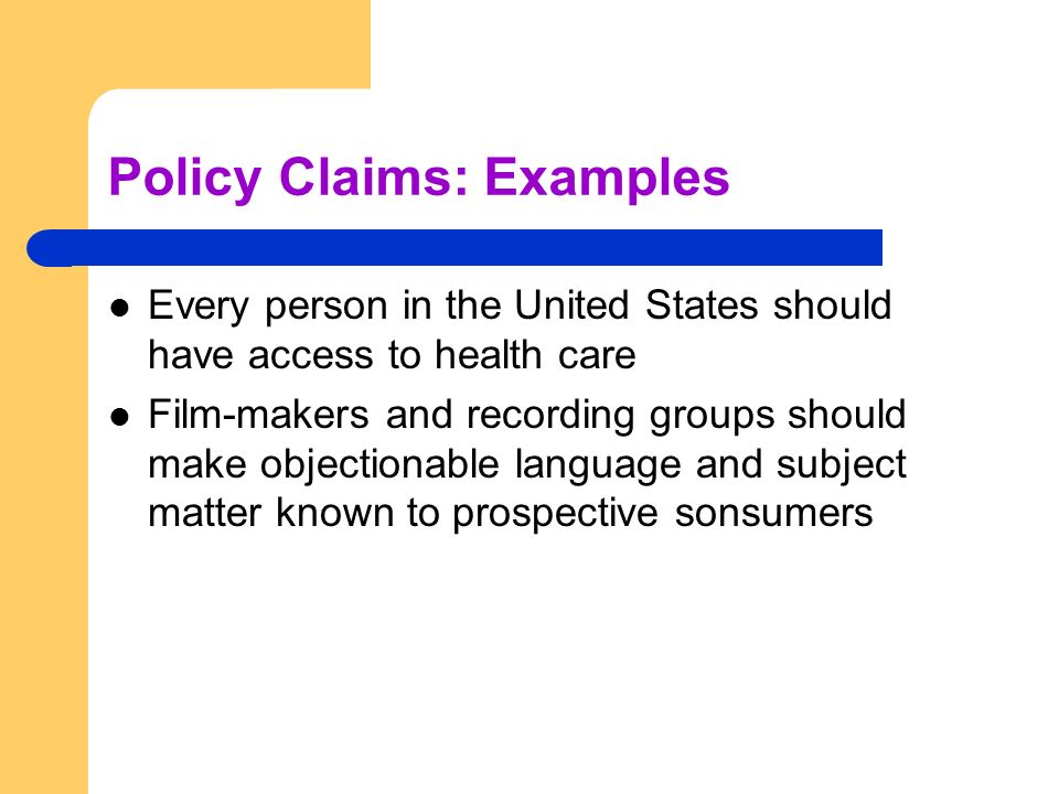 claims makers examples