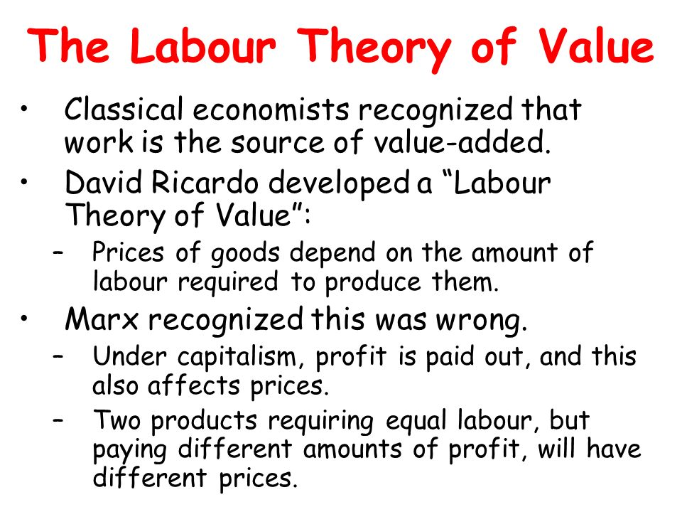 The Labour Theory of Value