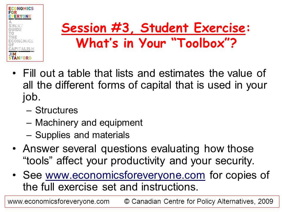 Session #3, Student Exercise: What's in Your Toolbox