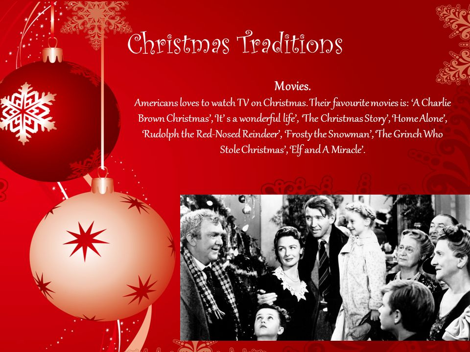 3 christmas traditions movies