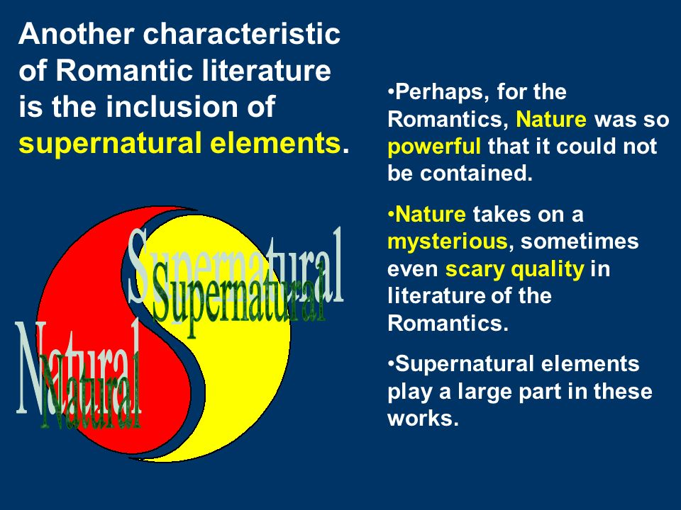 supernatural elements in english literature