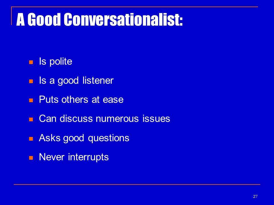 how to be a good conversationalist pdf