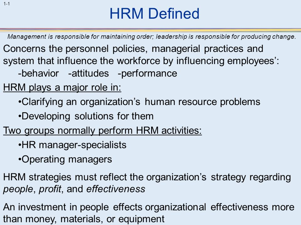 discuss how leadership and management in an organisation could support effective hrm