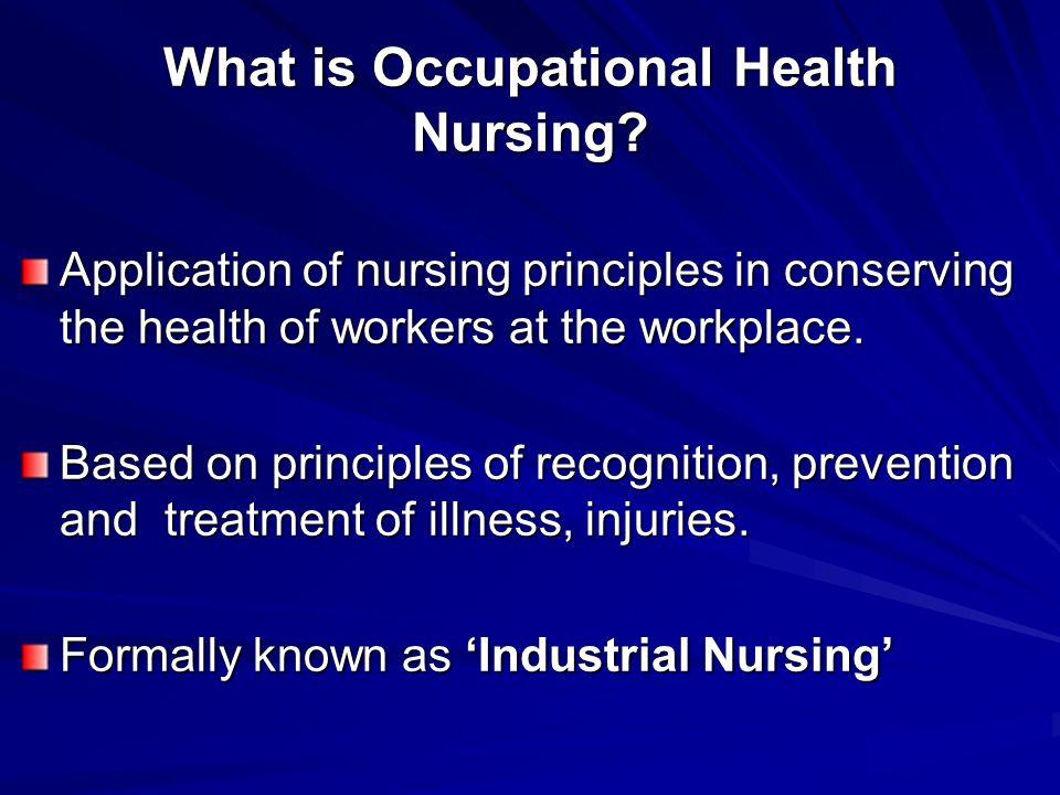 Occupational Health Nursing Ppt Video Online Download