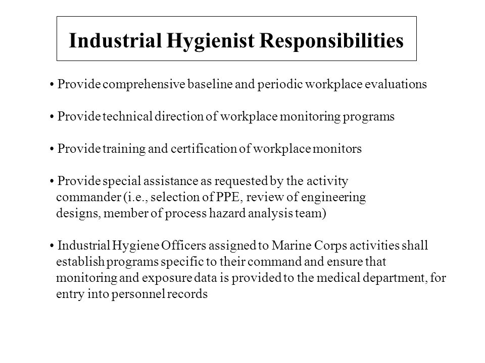 Occupational Health & Industrial Hygiene Programs. - ppt video ...