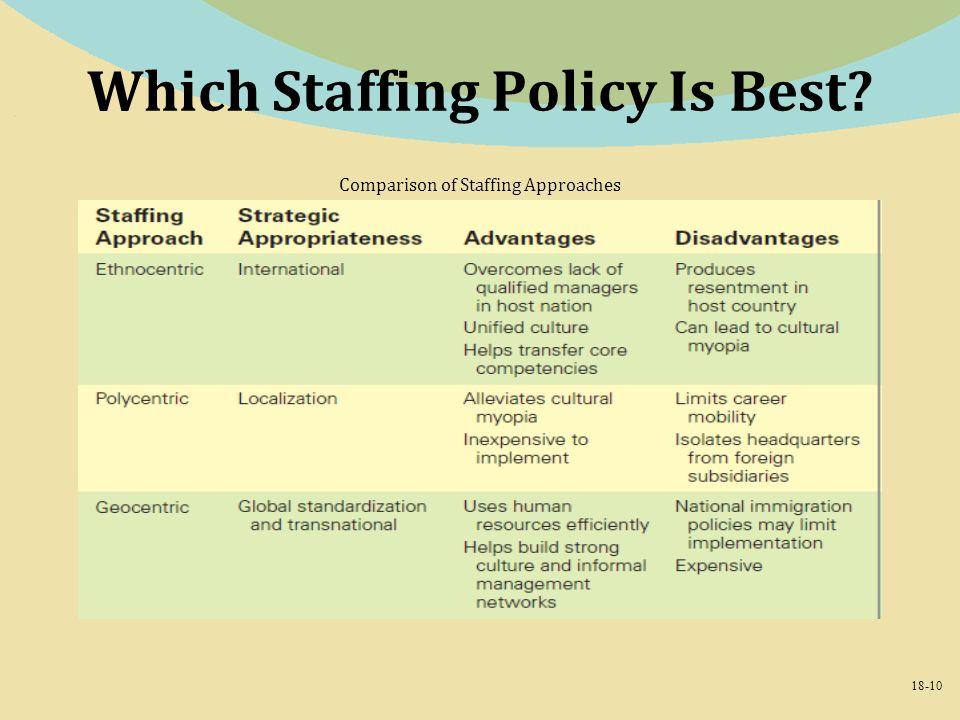 define geocentric staffing
