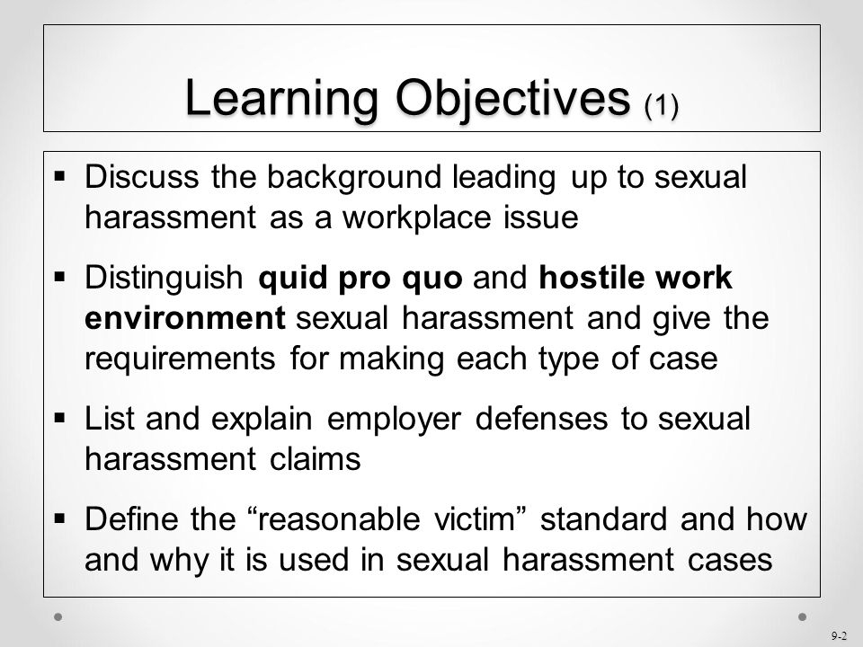 Multimedia presentation types of sexual harassment