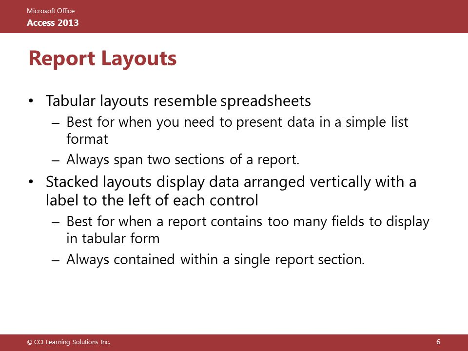 Lesson 5: Designing Reports - ppt download