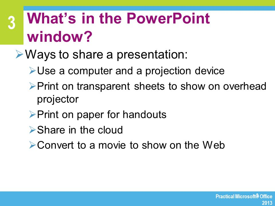 Chapter 3 Making Presentations with PowerPoint - ppt video