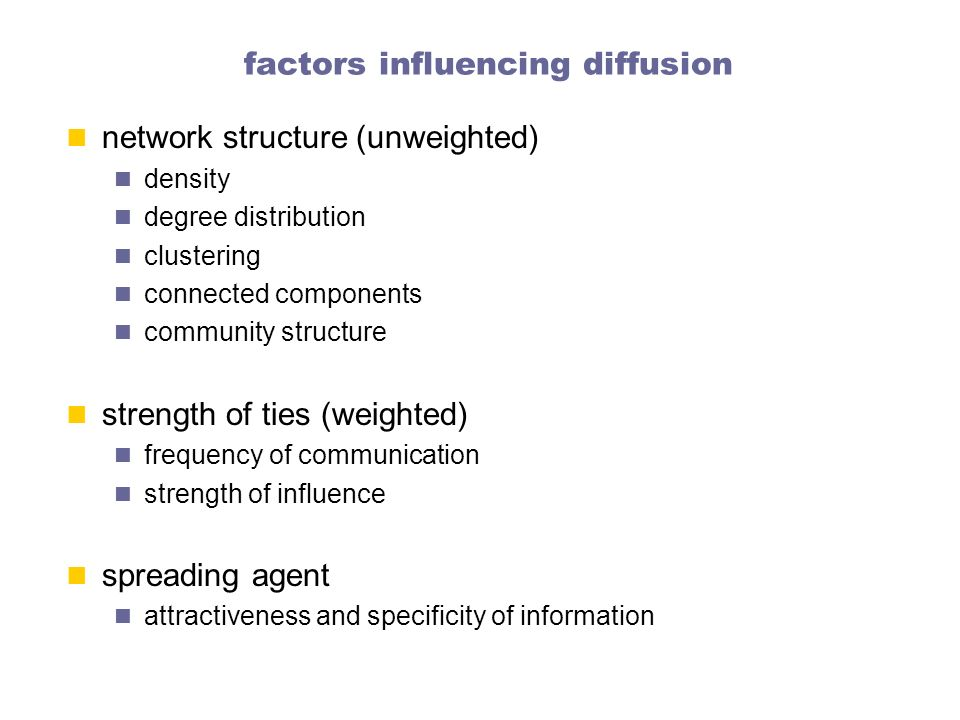 factors influencing diffusion