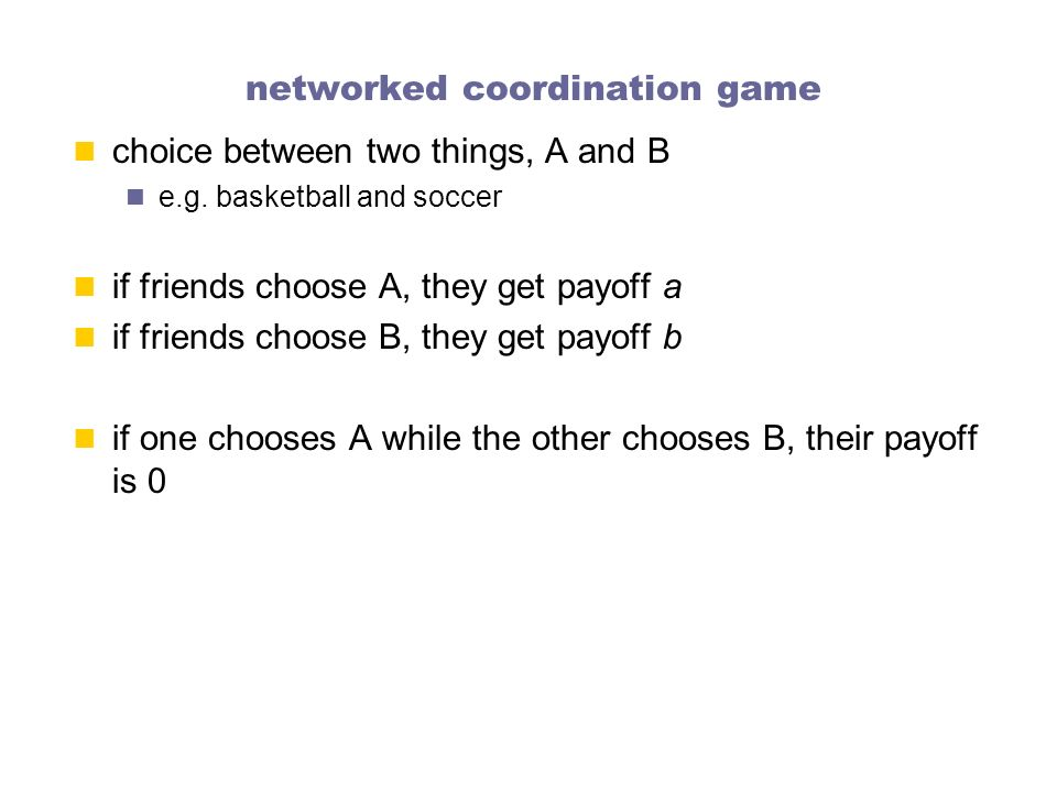 networked coordination game