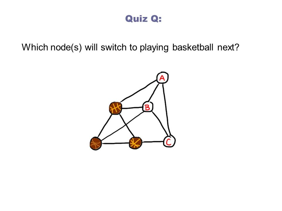Quiz Q: Which node(s) will switch to playing basketball next