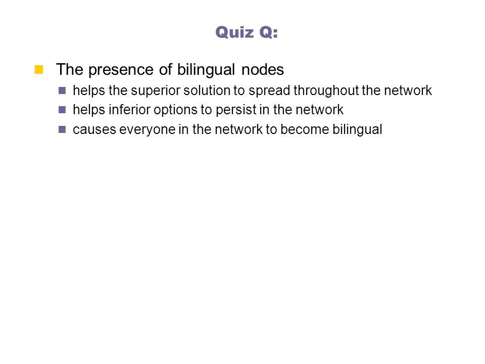 The presence of bilingual nodes