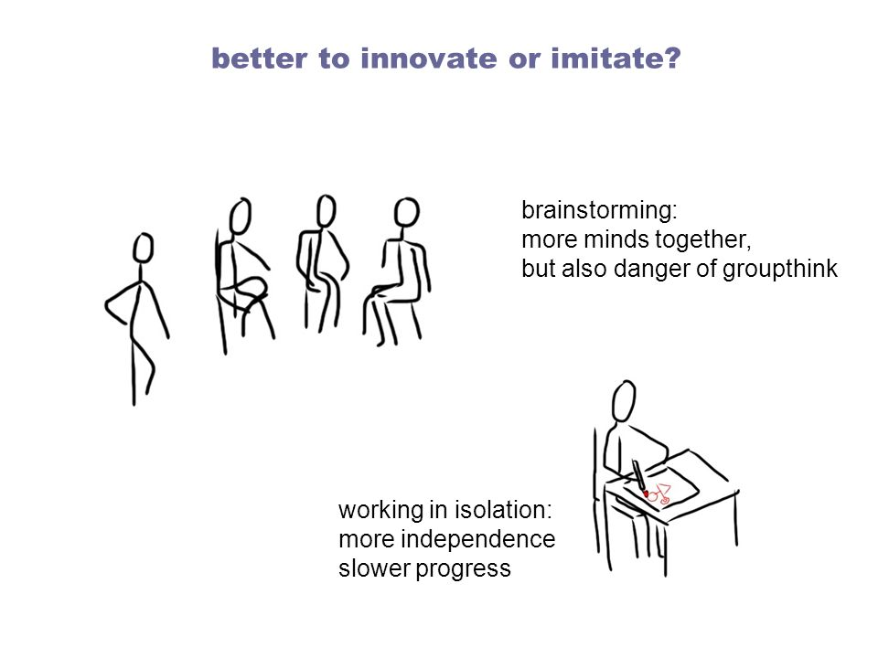 better to innovate or imitate