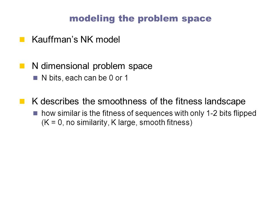 modeling the problem space