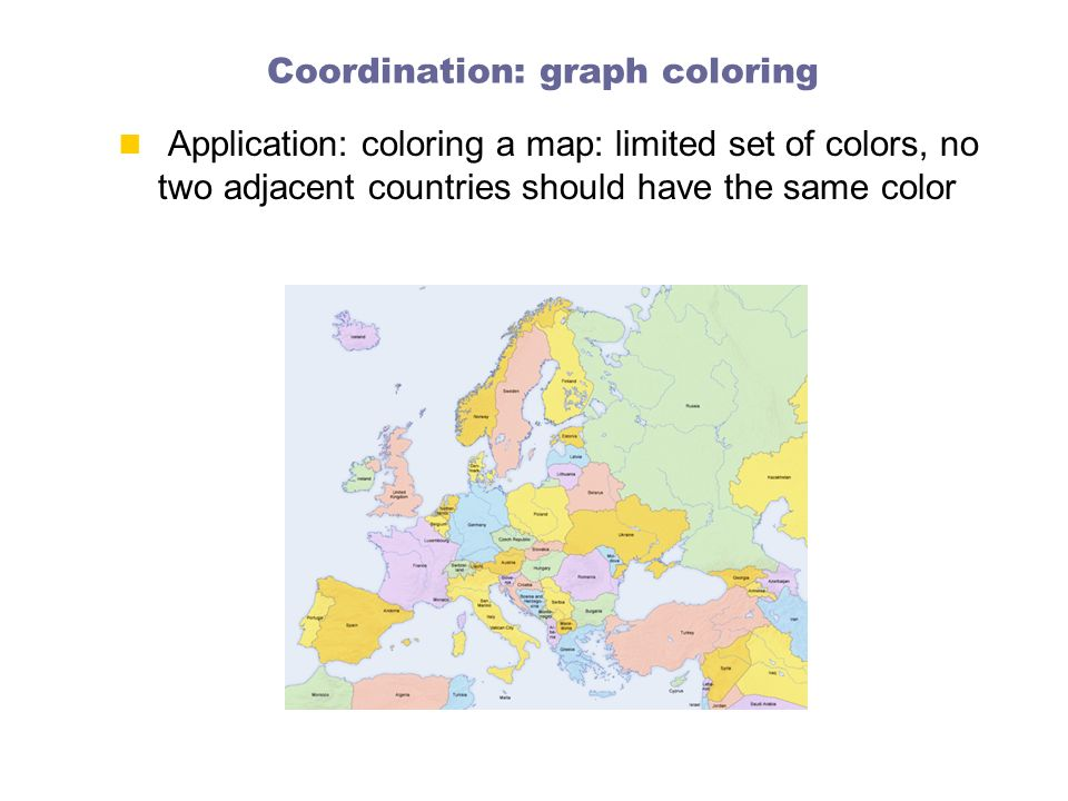Coordination: graph coloring