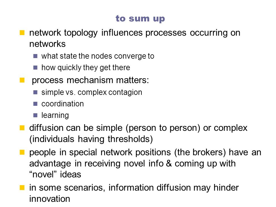 network topology influences processes occurring on networks