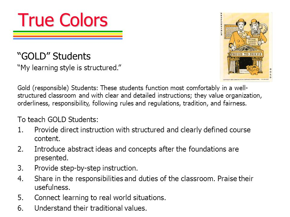 True Colors Part Ii Understanding Yourself And Others Presented