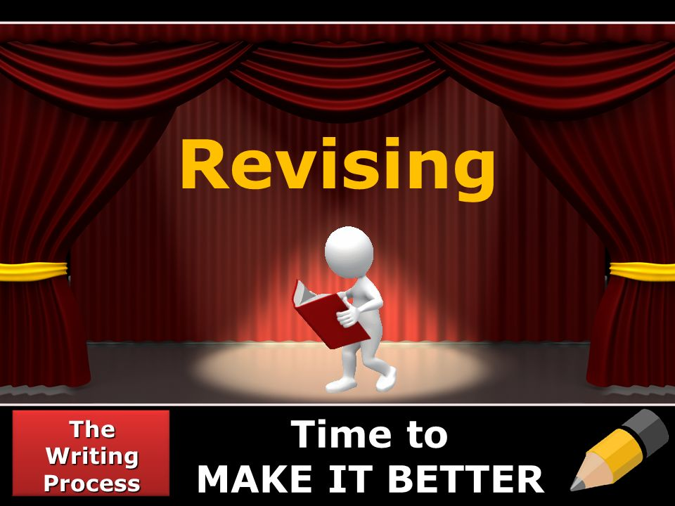 Revising The Writing Process Time to MAKE IT BETTER