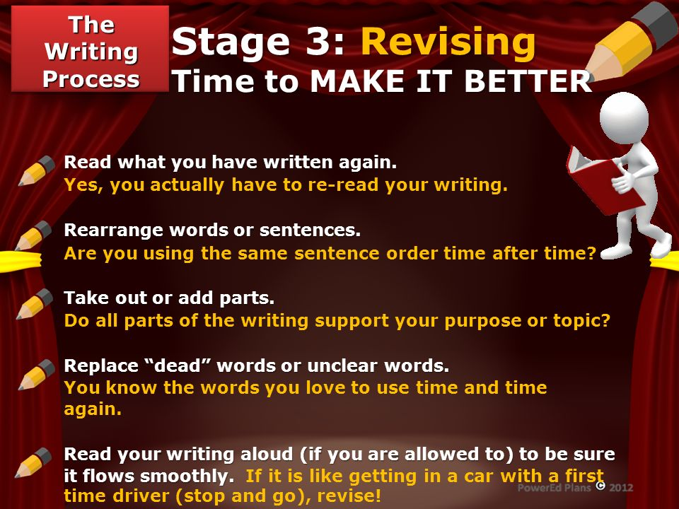 Stage 3: Revising Time to MAKE IT BETTER
