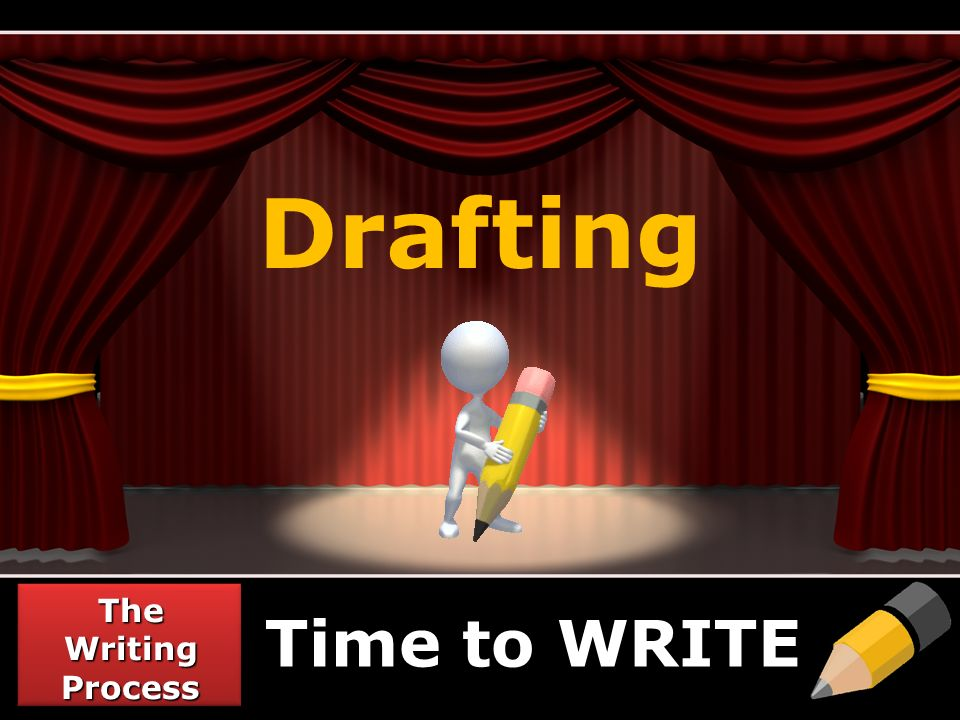 Drafting Time to WRITE The Writing Process