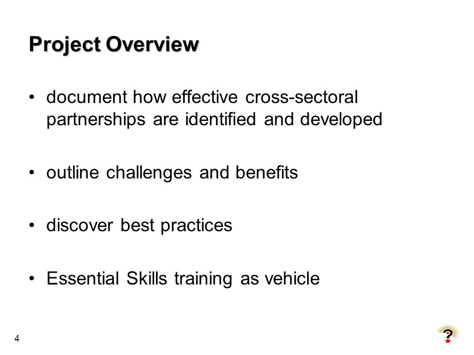 Project Overview document how effective cross-sectoral partnerships are identified and developed. outline challenges and benefits.