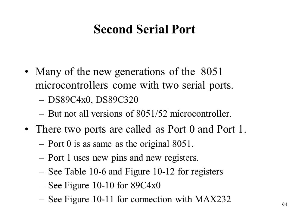 Chapter Serial Port Programming in Assembly and C - ppt download