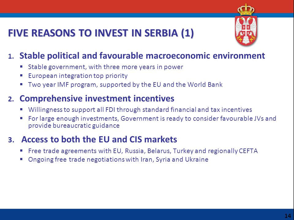 FIVE REASONS TO INVEST IN SERBIA (1)
