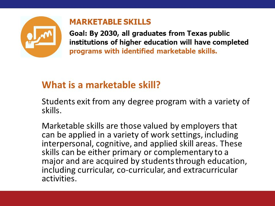 What is a marketable skill