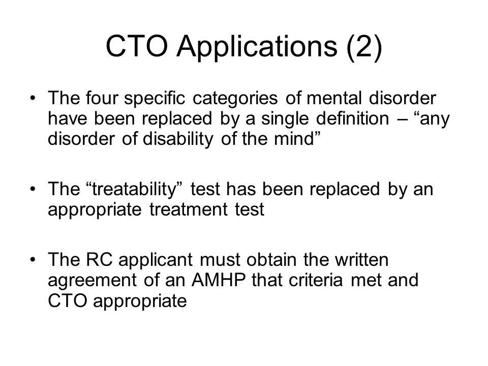 CTO Applications (2)