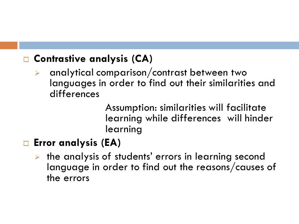 analysis interlanguage