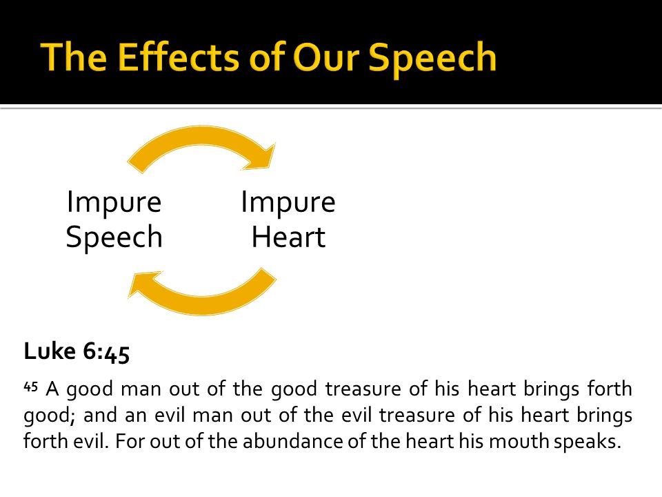The Effects of Our Speech