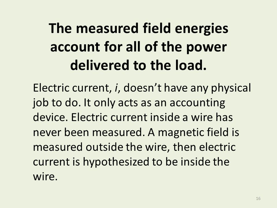 The measured field energies account for all of the power delivered to the load.