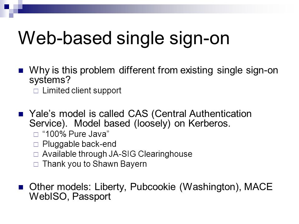 Central Authentication Service - ppt download
