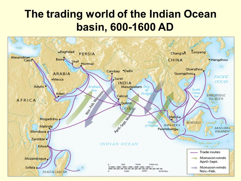 east africa and the indian ocean basin 1450 1750 A trade route is a logistical network identified as a series of pathways and stoppages used for the commercial transport of cargo the term can also be used to refer to trade over bodies of water.