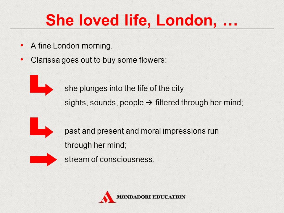 She loved life, London, … A fine London morning.