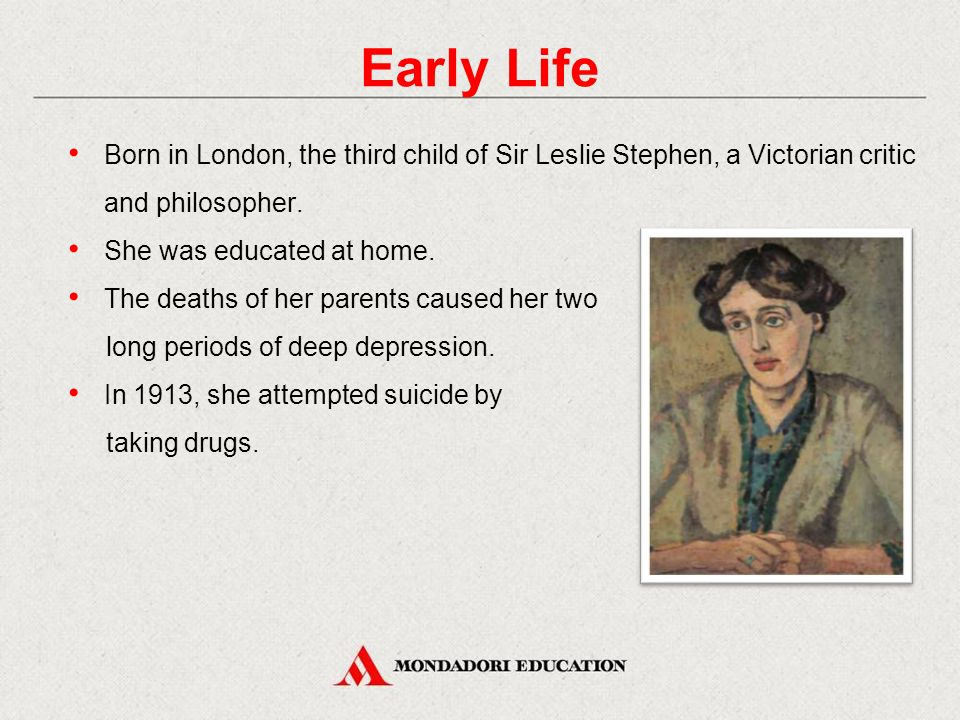 Early Life Born in London, the third child of Sir Leslie Stephen, a Victorian critic and philosopher.