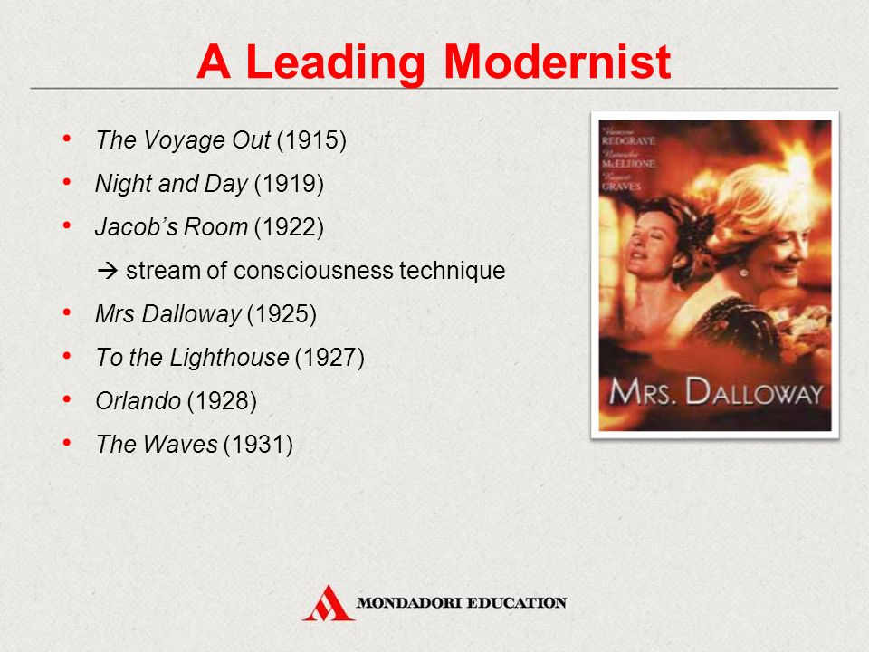 A Leading Modernist The Voyage Out (1915) Night and Day (1919)