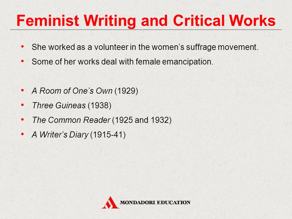 Feminist Writing and Critical Works