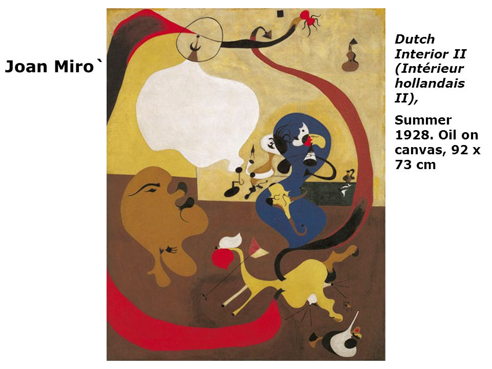 Joan Miro` Dutch Interior II (Intérieur hollandais II),