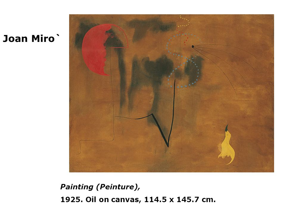 Joan Miro` Painting (Peinture), Oil on canvas, x cm.
