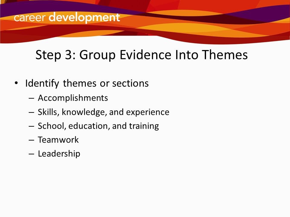 Step 3: Group Evidence Into Themes
