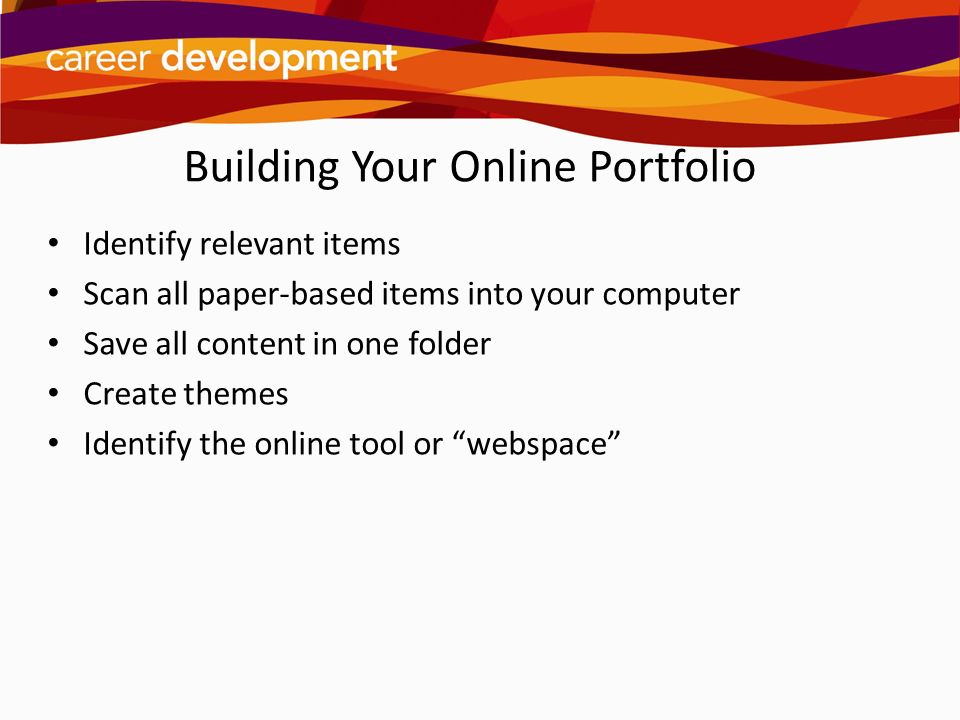 Building Your Online Portfolio