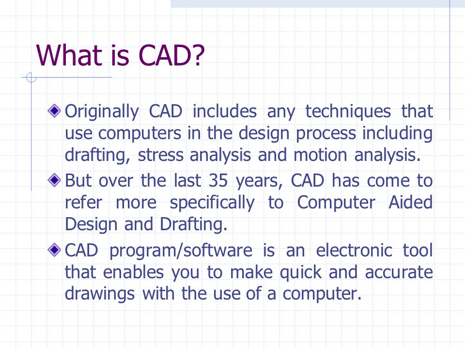 Memd 261 Computer Aided Design Cad Introduction To Cad Ppt Video Online Download