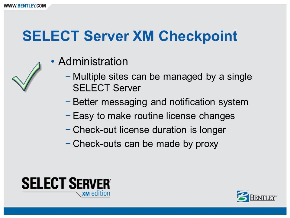 Software Licensing, Made Simple SELECT Server XM Edition
