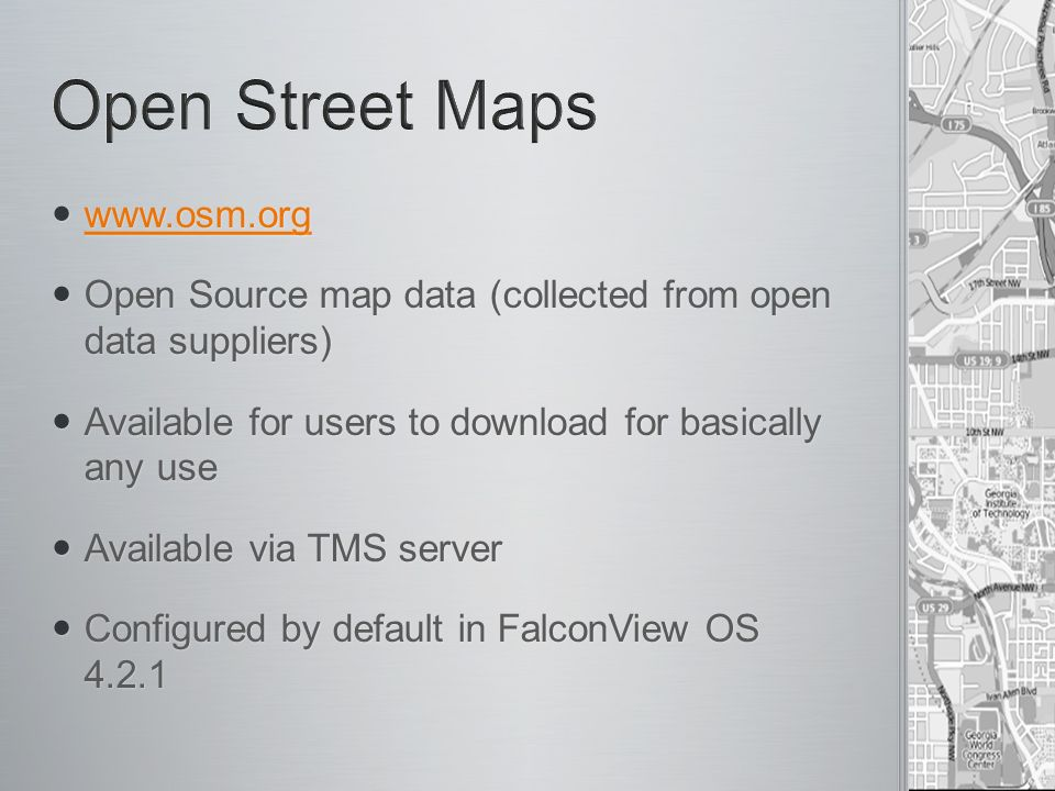 FalconView Open Source Inspired Features - ppt download
