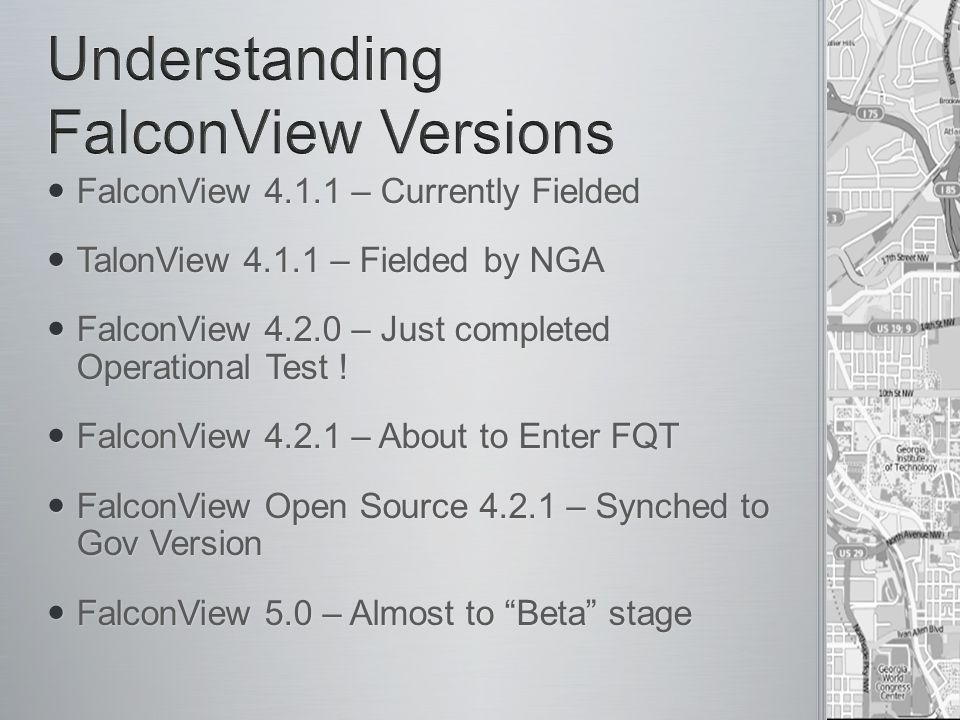 Falconview open source inspired features ppt download.