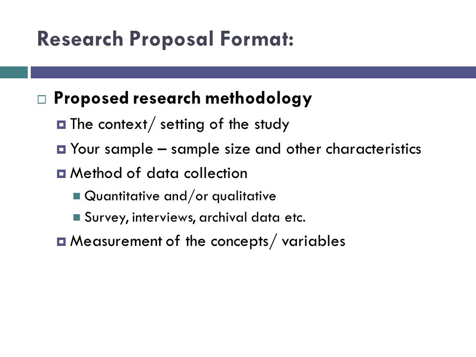 3 research proposal format